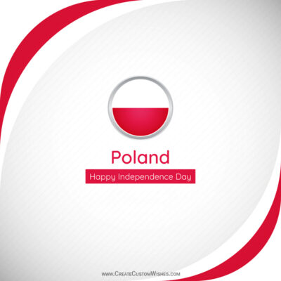 Poland Independence Day Wishes with Name