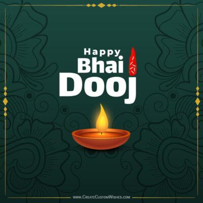 Write Name / Text / Quotes on Bhai Dooj Wishes Image
