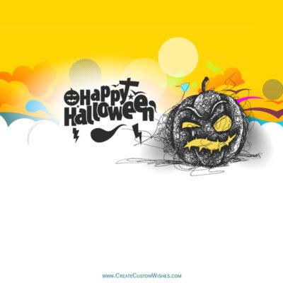 Write Name / Text / Quotes on Halloween Image