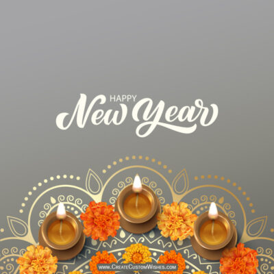 Write Name / Text / Quotes on Hindu New Year Wishes Image