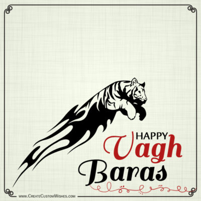 Write Name / Text / Quotes on Vagh Baras Image & Greetings